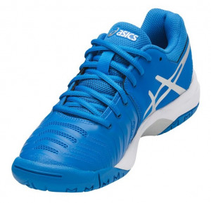 ... ASICS - Buty tenisowe dla dzieci GEL RESOLUTION 7 blue-white 4e94d68c635c3