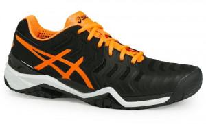 ASICS - Buty tenisowe dla dzieci GEL RESOLUTION 7 black-orange ... e7b8a46d6f10f