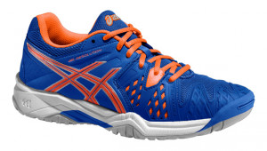 ASICS - Buty tenisowe dla dzieci GEL RESOLUTION 6 blue-flash orange-silver  ... 406f163e836ef